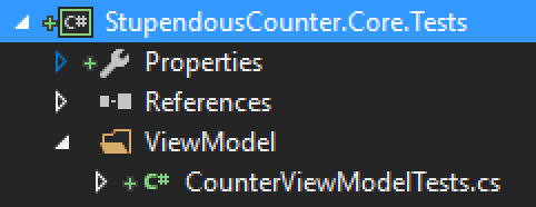 CounterViewModelTests class
