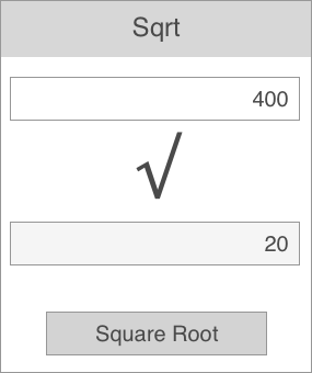 A simple square root calculator app that calculates the square root of a given number