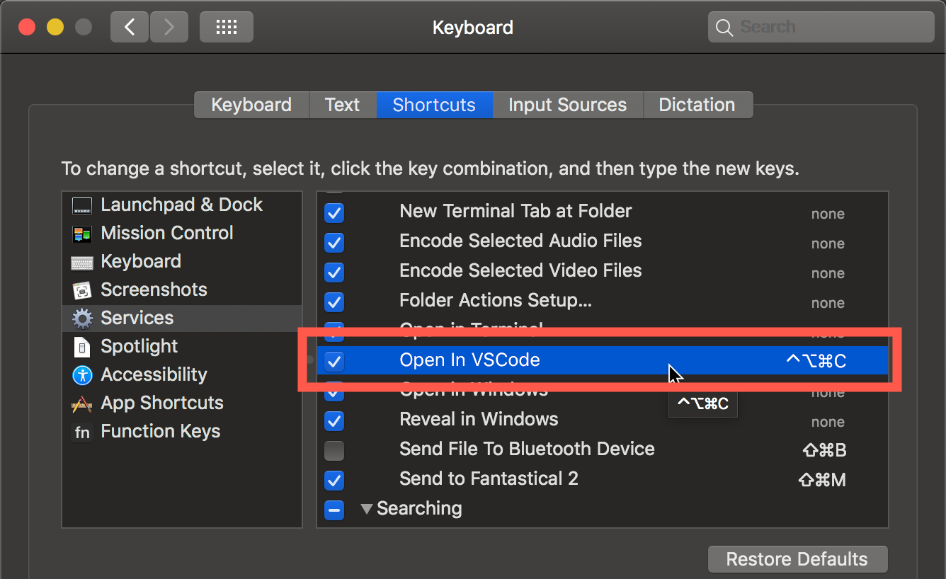 Open anything in VS Code using a MacOS quick action